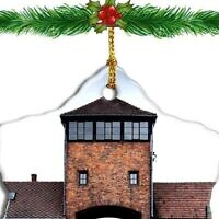 A Christmas ornament featuring Auschwitz is for sale on Amazon. (Amazon/via JTA)
