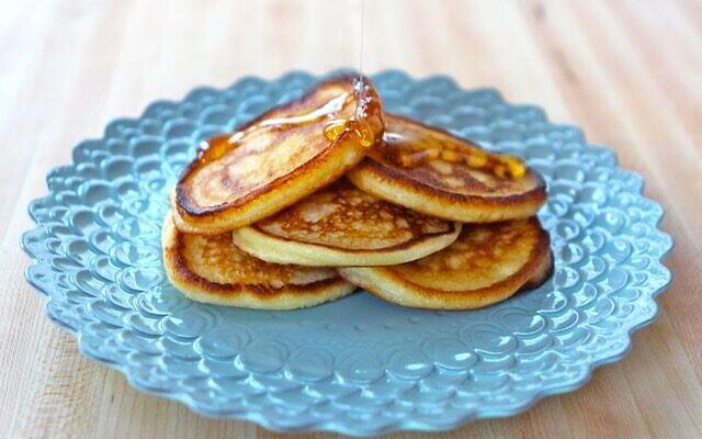 Cassola, or ricotta pancakes, for Hanukkah by food blogger Tori Avey. (Courtesy)