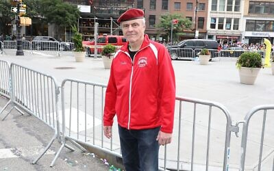 Curtis  Sliwa, founder of the Guardian Agnels unarmed crime-prevention group. (JTA)