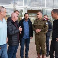 IDF Chief of Staff Aviv Kohavi meets with the mayors of Gaza-adjacent towns on December 6, 2019. (Israel Defense Forces)