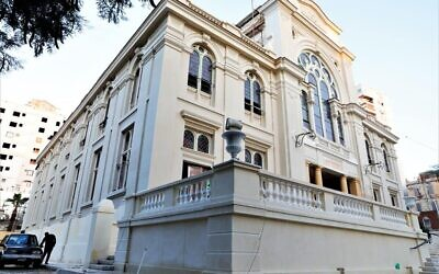 The Eliyahu Hanavi synagogue on December 20, 2019. (Egyptian Antiquities Ministry)