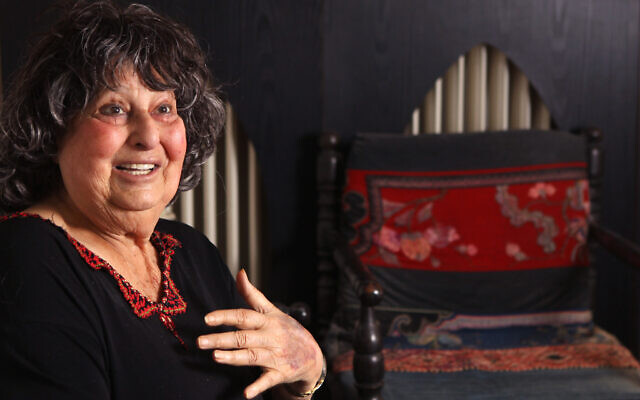 Portrait of  Geula Cohen, in her home in Jerusalem. May 24, 2011.( Nati Shohat/FLASH90)