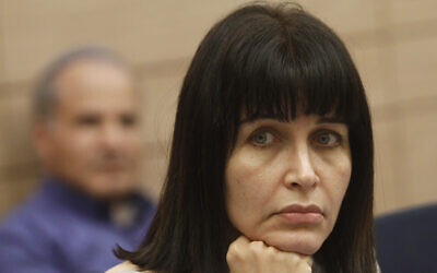 Then-Knesset member for the Independence party Einat Wilff, seen in parliament, April 17, 2012. (Miriam Alster/FLASH90)