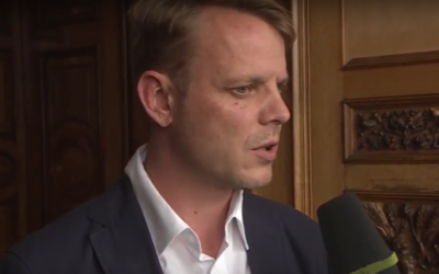 Nikolaus Kramer of the far-right Alternative for Germany party. (Screen capture: YouTube)
