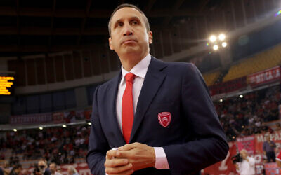David Blatt before a Euroleague game in Athens, Greece, October 19. 2018. (Panagiotis Moschandreou/Euroleague Basketball via Getty Images/JTA)