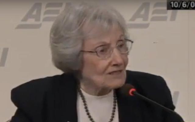Gertrude Himmelfarb (Screen capture: YouTube)
