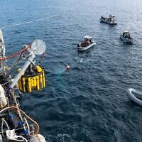 Israel's Shayetet 13 and Italy's Navy carry out a drill simulating a sinking submarine. (Israel Defense Forces)