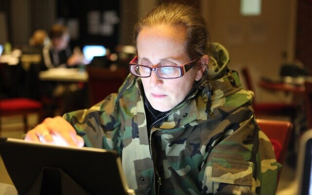 During Superstorm Sandy Cpt. Dana Hall served as the Commander for Mission Execution. She and her team worked out of a SUNY college building. (Courtesy/ Cpt. Dana Hall)