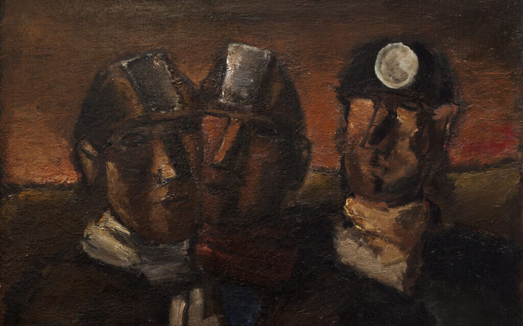 'Miners,' 1968, oil on canvas, by Josef Herman. (Courtesy estate of Josef Herman/ Flowers Gallery)