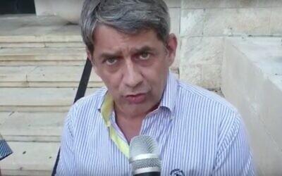 Haifa deputy Mayor Lazar Kaplan. (Screncapture/YouTube)