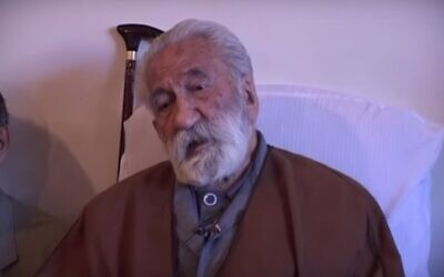Screen capture from video of Iran's Sufi leader Nourali Tabandeh. (YouTube)