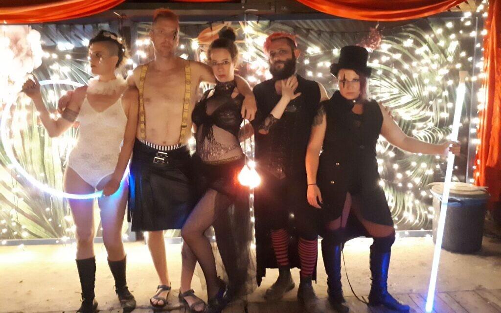 Michal Frampshes-Vexler, Roi Frampshes-Givony, Yael Lamfrom, Aviv Losh, Shir Talor in Tel Aviv, June 2019. (Courtesy)