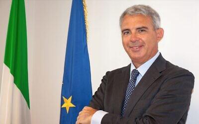 Italy's ambassador to Israel, Gianluigi Benedetti (Courtesy)