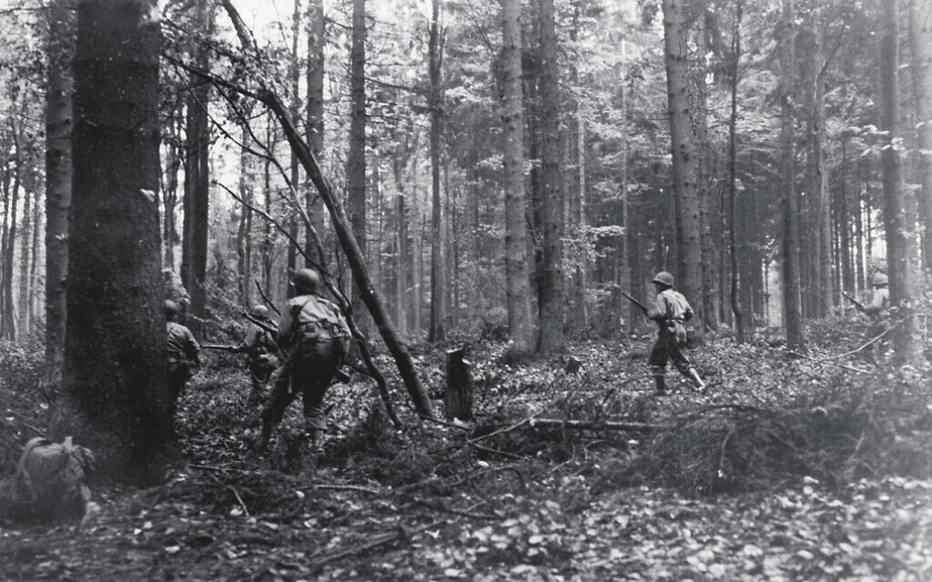 In the Hurtgen forest, German troops timed artillery shells to detonate in the tree canopy, exploiting softwood anatomy to weaponize conifers into lethal shards. Tree bursts were a major factor in the Allied defeat and 33,000 casualties in the Hurtgen Forest in late 1944, considered by historians the longest battle ever fought by the US military. (US National Archives/ Sumner)