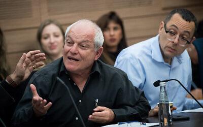 Likud MK Haim Katz at the Knesset, December 9, 2019. (Yonatan Sindel/Flash90)