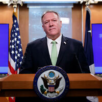US Secretary of State Mike Pompeo speaks at the State Department in Washington, December 11, 2019. (AP Photo/Alex Brandon)