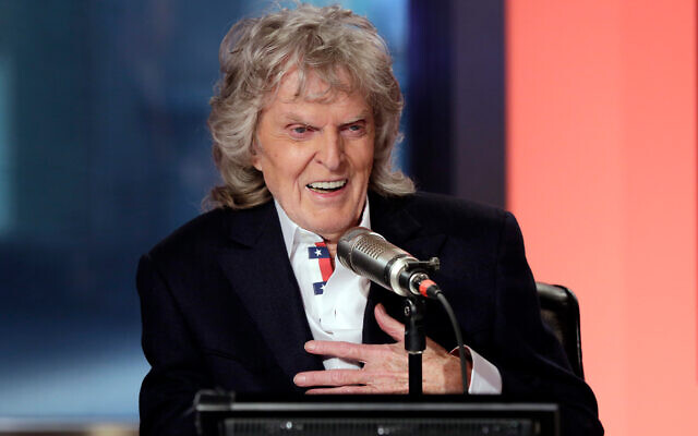 "Don Imus appears on his last ""Imus in the Morning"" program, on the Fox Business Network, in New York, May 29, 2015. (AP Photo/Richard Drew, File)"