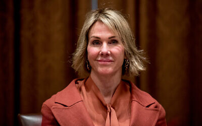 US Ambassador to the UN Kelly Craft at a luncheon with US President Donald Trump and members of the UN Security Council at the White House, December 5, 2019. (AP Photo/Andrew Harnik)