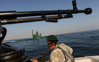 Illustrative: an Iranian naval drill in the Sea of Oman, December 28, 2011. (AP Photo/International Iran Photo Agency, Ali Mohammadi)