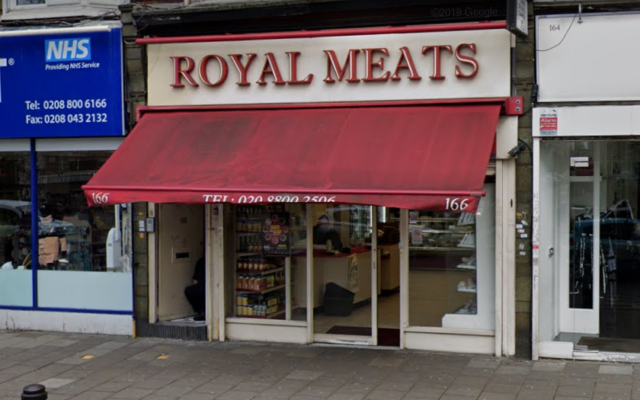 Royal Meats, a kosher butcher shop in Stamford Hill, London. (Screenshot: Google Street View)