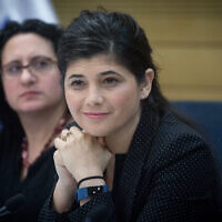 Likud MK Sharren Haskel at the Knesset, December 28, 2017. (Miriam Alster/Flash90)
