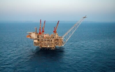 The Leviathan natural gas platform off the shore of Israel. (Albatross)