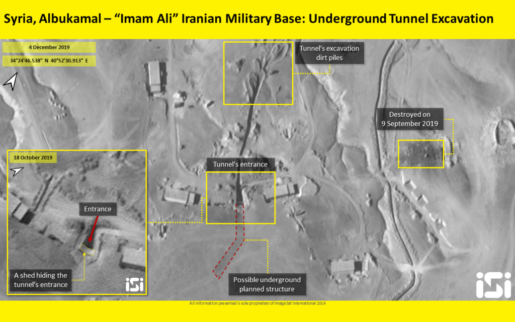 In tacit threat, Israeli intel firm releases photo of suspected Iranian tunnel