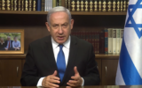 Prime Minister Benjamin Netanyahu in a YouTube video slamming European nations who joined the INSTEX barter mechanism meant to circumvent US sanctions on Iran, on December 1, 2019. (YouTube screen capture)
