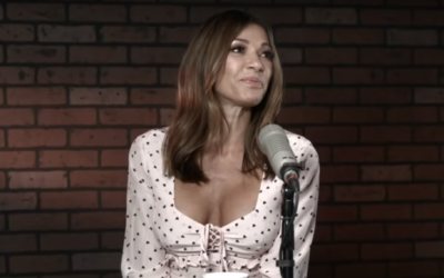 Screenshot from video of Venezuelan actress Catherine Fulop, who said in a radio interview that Jews were 'fierce torturers of their own people' in the concentration camps during Holocaust. (YouTube via JTA)