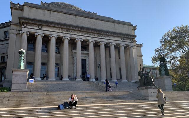 A view of Columbia University's Low Memorial Library in New York, September 25, 2019 (Josefin Dolsten via JTA)