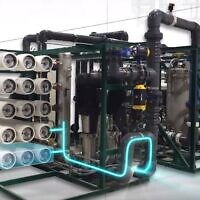Desalitech's reverse osmosis water purification technology (YouTube screenshot)