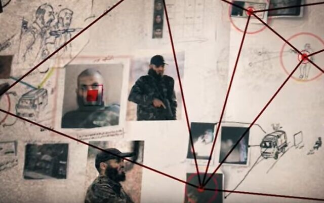 An image taken from an Al Jazeera documentary released in December 2019, detailing an Israeli intelligence raid in the Gaza Strip a year earlier. (screen capture: YouTube)