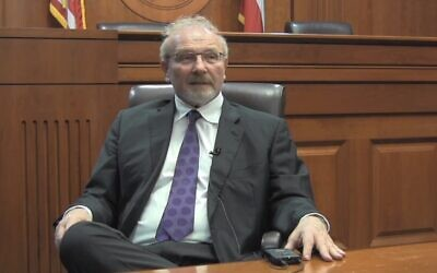 Allan Gerson speaking on international law at the Robert S. Strauss Center for International Security and Law in Austin, Texas, on March 24, 2014. (YouTube screen capture)
