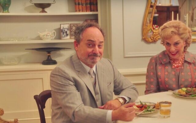 Kevin Pollak (left) and Caroline Aaron as Moishe and Shirley Maisel in 'The Marvelous Mrs. Maisel' (screenshot)