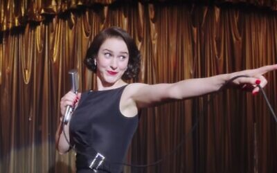 Rachel Brosnahan as Midge Maisel in 'The Marvelous Mrs. Maisel' (screenshot)