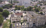 A ruined synagogue in Chisinau, Moldova (Cnaan Liphshiz/JTA)