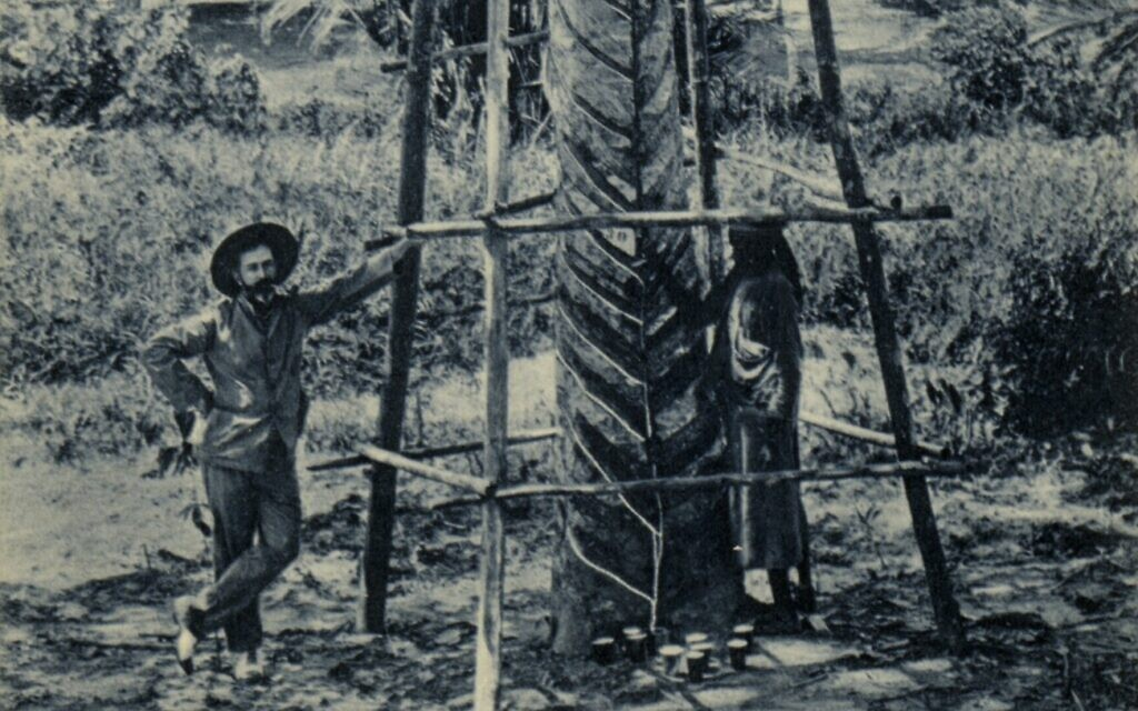 At the onset of World War II, rubber tree plantations in the Dutch East Indies such as the one in this pre-1925 photo produced 90 percent of the global latex supply. The trees are native to South America, but were cultivated in areas of southwestern Asia that fell under Japanese control during World War II. By early 1942, Japan controlled over 90 percent of the global supply of latex. (C.J. Kleingrothe/ public domain)