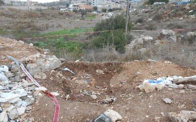 The scene of Adel Khativ's murder (via Zman Yisrael)