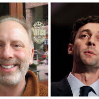 Matt Lieberman, left, (Ron Kampeas/JTA) and Jon Ossoff. (AP Photo/David Goldman)