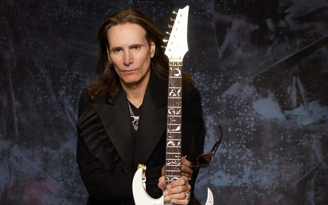 Grammy-winning guitarist Steve Vai will offer a one-time master class at the Red Sea Guitar Festival on February 15, 2020 (Courtesy Larry DiMarzio)