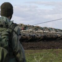 Israeli troops are pictured in the Golan Heights on the border with Syria, January 3, 2020. (Jalaa Marey/AFP)