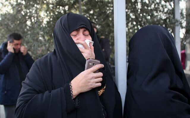 ranians mourn during a demonstration in the capital Tehran on January 3, 2020 against the killing of Iran's Quds Force commander Qassem Soleimani in a US strike in Baghdad. (Atta Kenare/AFP)
