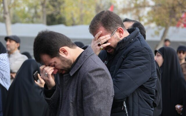 Iranians mourn during a demonstration in the capital Tehran on January 3, 2020 against the killing of Iran's Quds Force commander Qassem Soleimani in a US strike in Baghdad. (Atta Kenare/AFP)