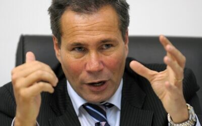 In this file photo taken on May 20, 2009 Argentina's Public Prosecutor Alberto Nisman gives a press conference in Buenos Aires. January 18 marks the fifth anniversary of the mysterious death of Nisman,who had accused Iran of the attack on the Jewish mutual AMIA in 1994 and had denounced ex-president Cristina Kirchner in the case (JUAN MABROMATA / AFP)