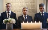 Britain's Foreign Secretary and First Secretary of State Dominic Raab, (L), Canadian Minister of Foreign Affairs Francois-Philippe Champagne (C) and Ukrainian Minister of Foreign Affairs Vadym Prystaiko observe a minute silence to commemorate to commemorate the victims of the Ukrainian plane shot down in Iran before a meeting of the International Coordination and Response Group, at the High Commission of Canada in London, on January 16, 2020. (Tolga Akmen / AFP)