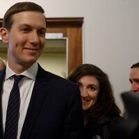 White House senior adviser Jared Kushner at the World Economic Forum in Davos, Switzerland, on January 21, 2020. (Jim Watson/ AFP)