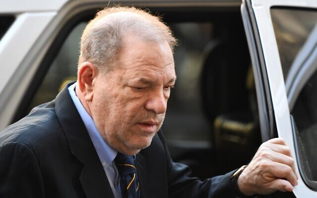 Harvey Weinstein arrives at the Manhattan Criminal Court, for his rape and sexual assault trial in New York City, January 24, 2020. (Johannes EISELE/AFP)