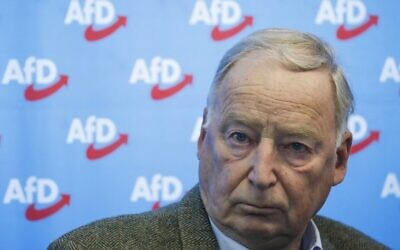 Co-leader of the Alternative for Germany (AfD) far-right party Alexander Gauland, Berlin, November 19, 2019. (Odd Andersen/AFP)