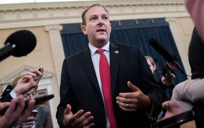 Rep. Lee Zeldin introduced a measure that would would add language to 1970s-era anti-boycott laws that targeted the Arab League boycott of Israel. (Tom Williams/CQ-Roll Call, Inc via Getty Images, JTA)