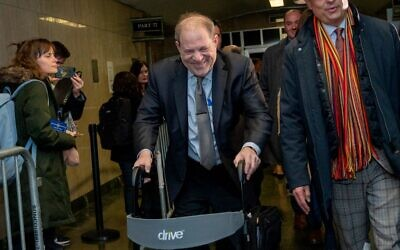 Film producer Harvey Weinstein departs his sexual assault trial at Manhattan Criminal Court on January 30, 2020 in New York City. (David Dee Delgado/Getty Images/AFP)